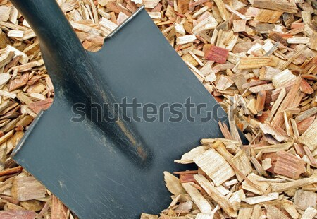 mulch and shovel Stock photo © luapvision