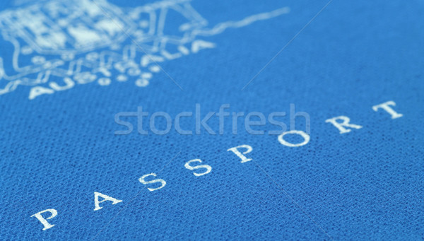 Stock photo: australian passport