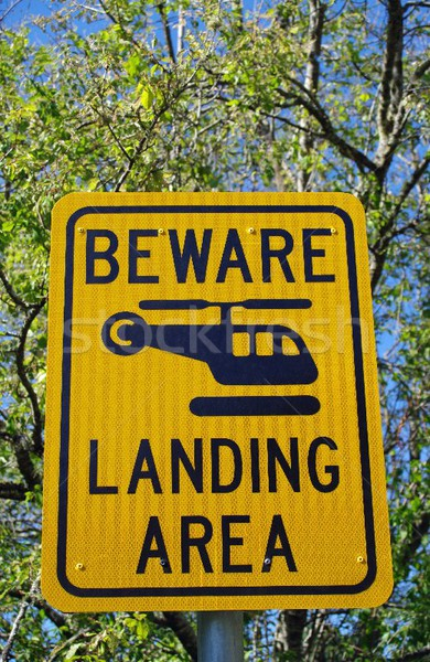 helicopter road sign Stock photo © luapvision