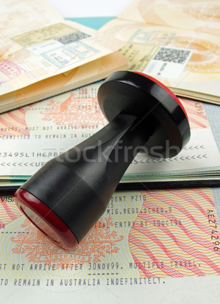 Immigration visa passeport Photo stock © luapvision