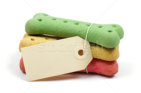 Köpek bisküvi etiket renkli kemikleri Stok fotoğraf © luapvision