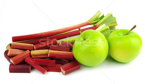 Rabarbar jabłka zielone żywności jabłko owoców Zdjęcia stock © luapvision