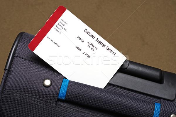 Bagaj etiket bavul tatil makbuz seyahat Stok fotoğraf © luapvision