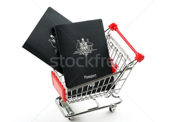 Iki avustralya alışveriş sepeti seyahat beyaz Stok fotoğraf © luapvision