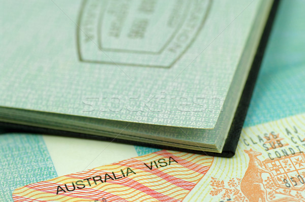 Passeport visa immigration tampon Photo stock © luapvision