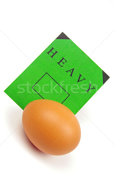 egg and green label Stock photo © luapvision
