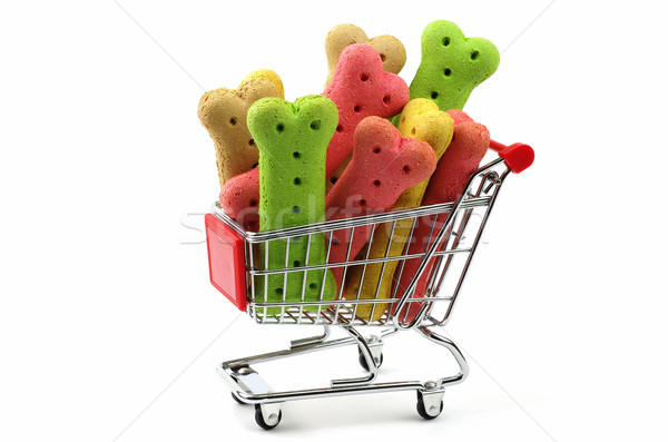 dog biscuits in a shopping trolley Stock photo © luapvision