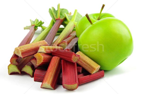 Elma ravent taze kesmek yeşil gıda Stok fotoğraf © luapvision