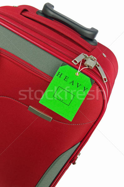 red holiday travel bag with green tag Stock photo © luapvision
