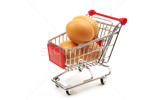 shopping trolley and fresh eggs Stock photo © luapvision