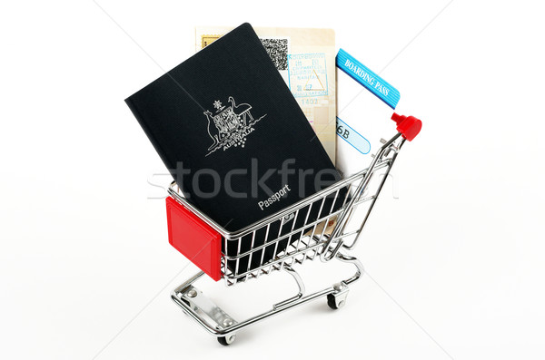 passports and boarding passes  Stock photo © luapvision