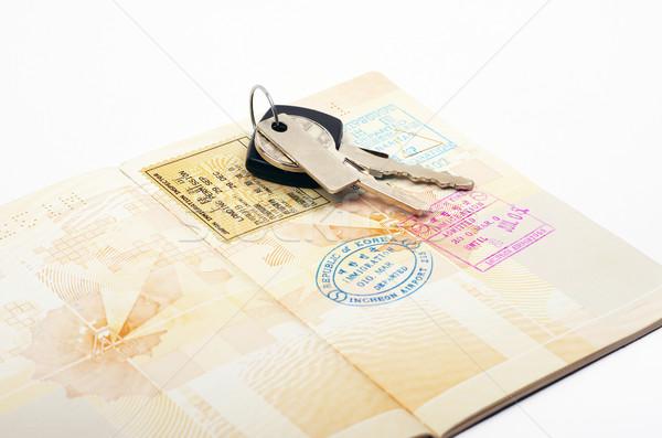 Açmak pasaport araba anahtarları etiket iş Stok fotoğraf © luapvision
