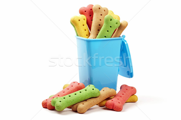 wheelie bin and dog biscuits Stock photo © luapvision