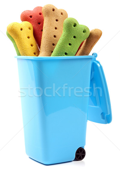 dog biscuits in a wheelie bin  Stock photo © luapvision
