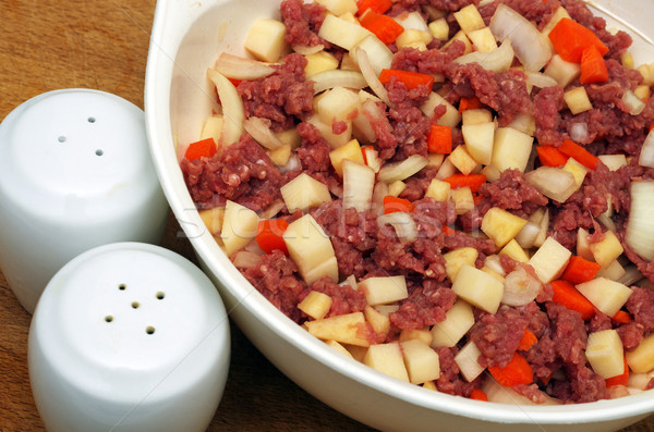 beef mince and vegetables  Stock photo © luapvision