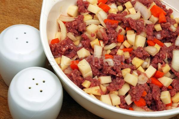 Rundvlees groenten vers vlees gemengd koken Stockfoto © luapvision