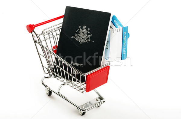 passports and two boarding passes  Stock photo © luapvision