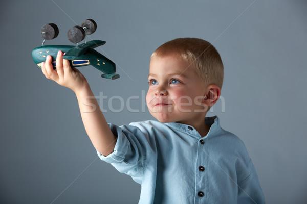 Сток-фото: самолет · год · старые · мальчика