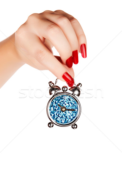 woman hand with a clock Stock photo © lubavnel