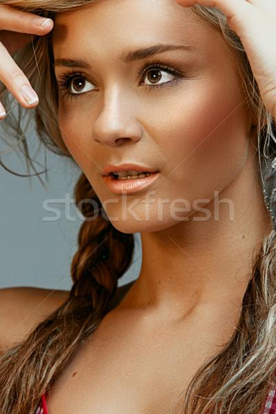 summer blond beauty Stock photo © lubavnel