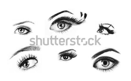 Yalıtılmış gözler kadın yüksek kalite Stok fotoğraf © lubavnel