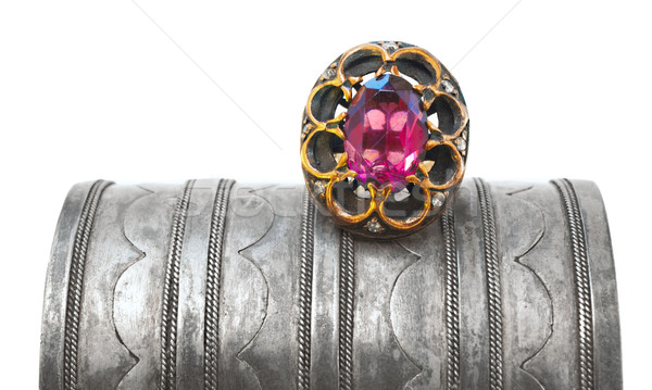 Turkish Ottoman ring and antique bracelet Stock photo © lubavnel