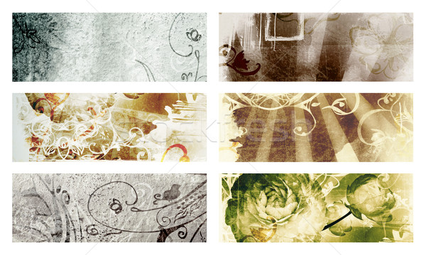 Grunge page with texture and designs Stock photo © lubavnel