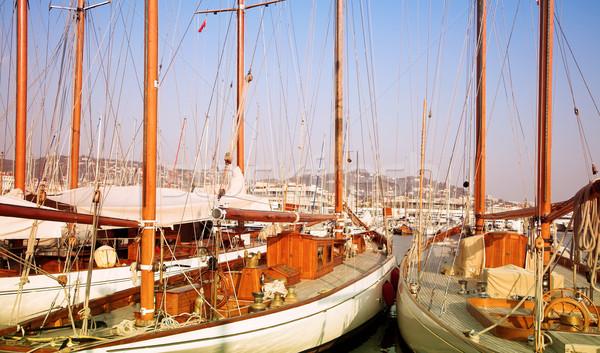 два Франция дорогой вверх Средиземное море Сток-фото © lubavnel