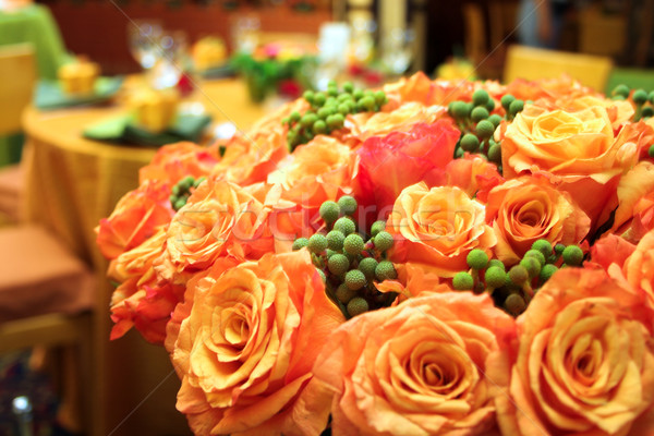Orange roses Stock photo © lubavnel