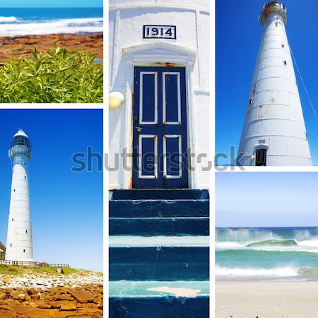 Lighthouse entrance against blue sky Stock photo © lubavnel