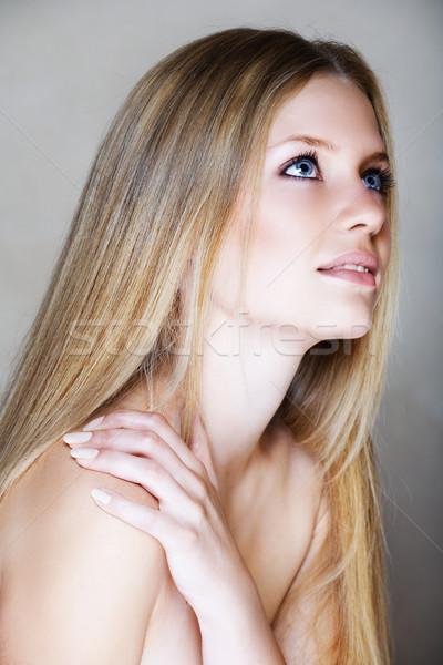 blond beautful woman Stock photo © lubavnel