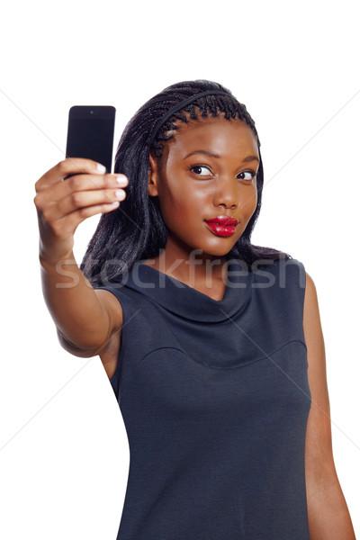 афроамериканец деловой женщины фотографии белый бизнеса Сток-фото © lubavnel