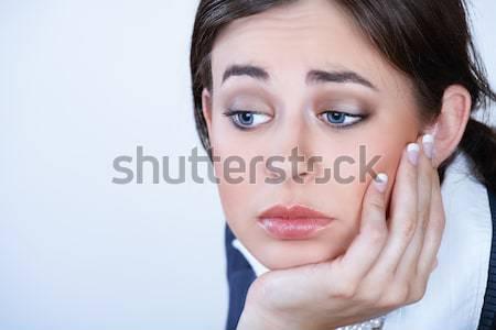 Сток-фото: депрессия · молодые · деловой · женщины · темные · волосы · стороны