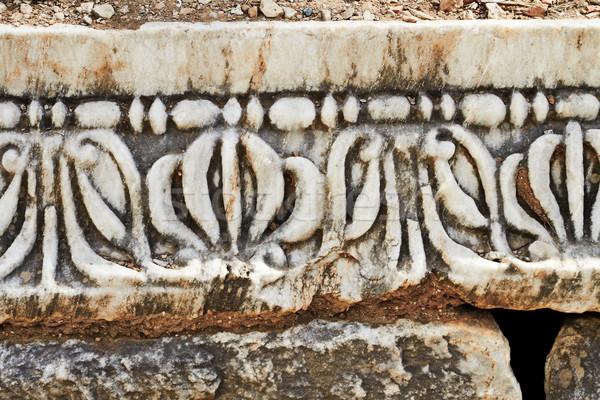 Ancient patterns in Ephesus, Turkey. Stock photo © lubavnel