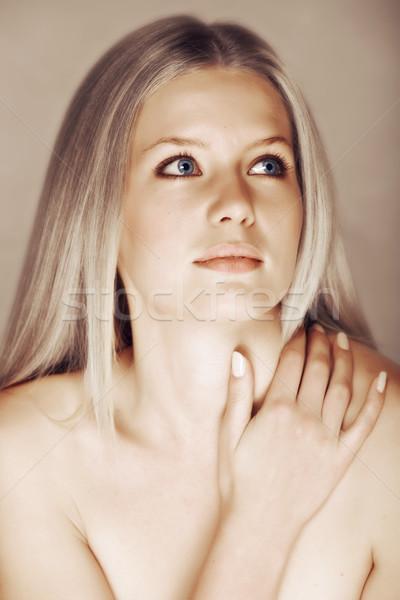 beautiful blond woman Stock photo © lubavnel