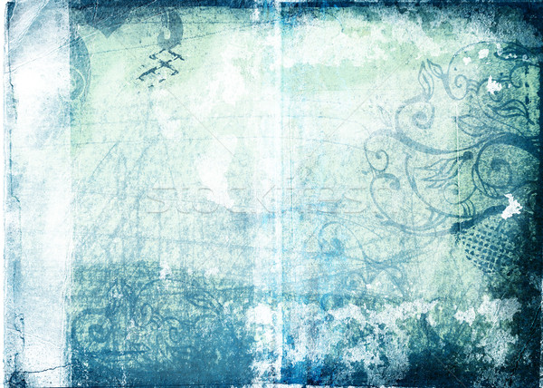 Stock photo: Grunge paper with designs