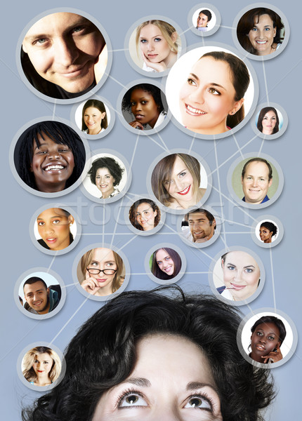 woman in 30s social networking Stock photo © lubavnel