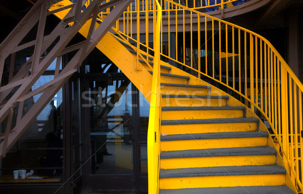 Stairway on the Eiffel Tower Stock photo © lubavnel