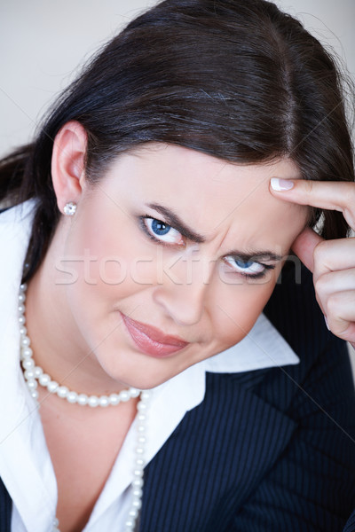 Angry businesswoman. Stock photo © lubavnel