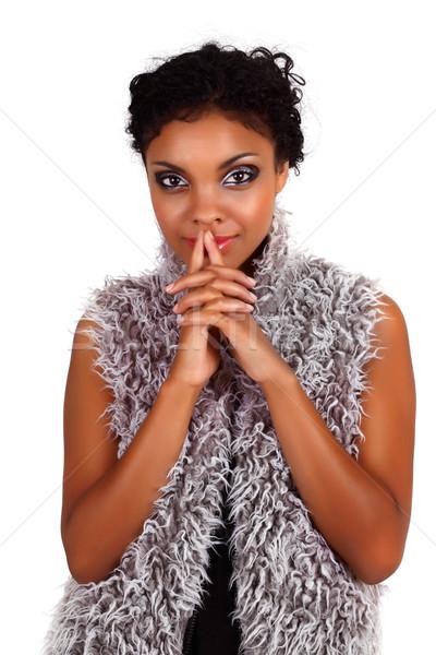 Photo stock: Africaine · femme · belle · mains · fille
