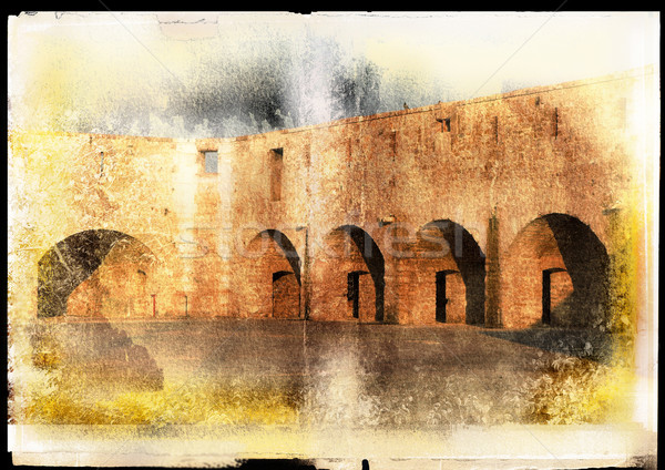 Grunge piece of ancient wall Stock photo © lubavnel
