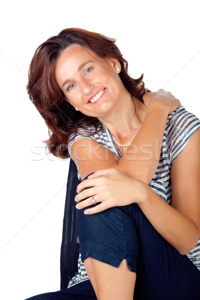 женщину 30-х годов Top джинсов красивой Сток-фото © lubavnel
