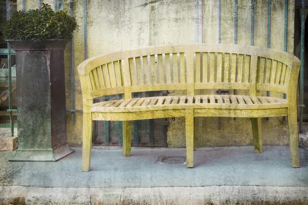 bench on the street Stock photo © lubavnel