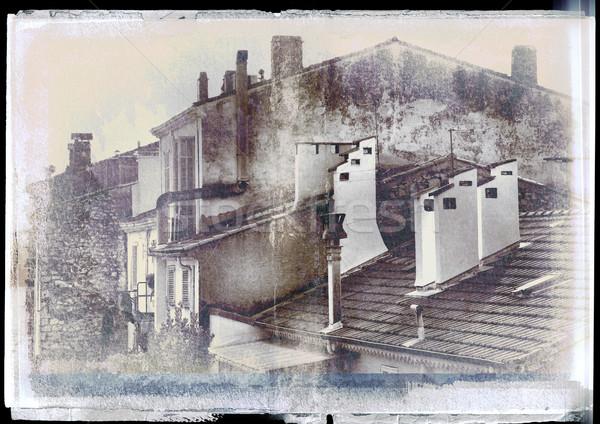 Grunge town vintage background Stock photo © lubavnel