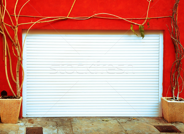 Metal garage door  Stock photo © lubavnel