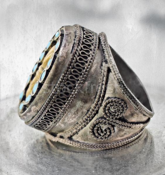 турецкий племенных кольца 100 лет старые Сток-фото © lubavnel