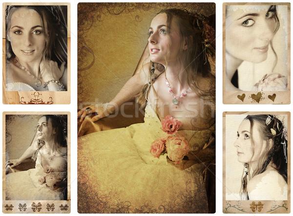 antique bride photos. Stock photo © lubavnel