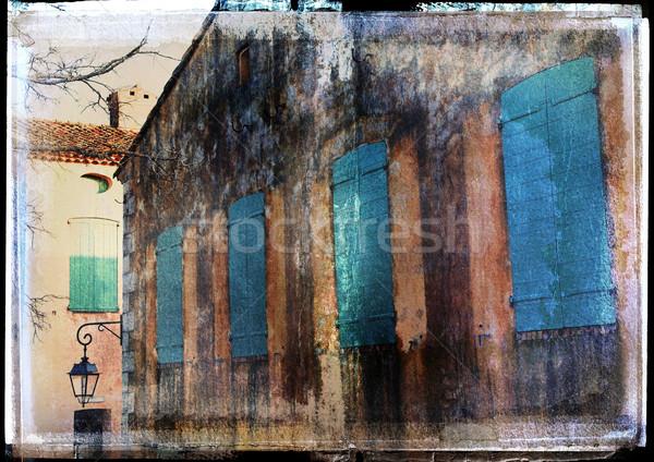 grunge french house background Stock photo © lubavnel
