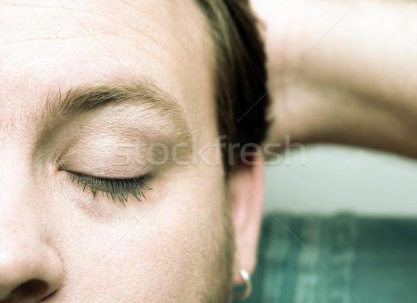 closed eyes Stock photo © lubavnel