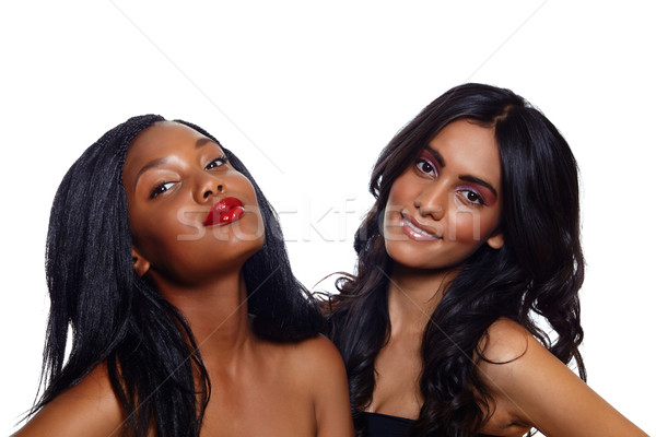 African and Indian beauty Stock photo © lubavnel
